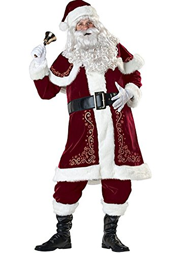 Santa Claus Suit Men's Jolly Ole St.Nick (Jolly Ole St Nick Santa Costumes)