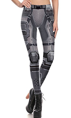 - Womens Footless Elastic Floral Printed Sexy Tights Leggings Army Green Pencil pants,Silver,S(US 0/2)