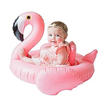 Mystery&Melody Bebé Flamingo Swim Ring Inflable Piscina Flotador Inflable Flamingo Swim Ring Piscina Flotador Bebé Natación