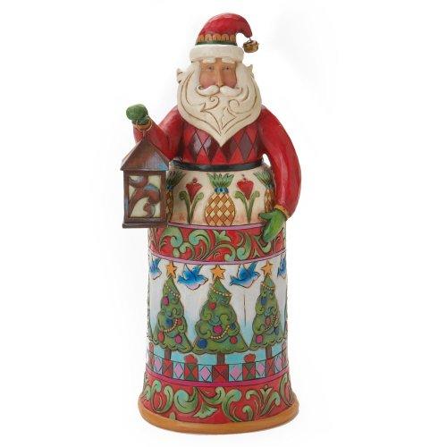 Enesco Jim Shore Heartwood Creek Santa with Lantern Figurine, 10-Inch