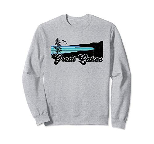 Great Lakes Beach Coast Shore Lake Life Retro Sweatshirt