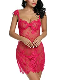 Avidlove Lingerie Lace Babydoll Set Nightgown Womens Chemises