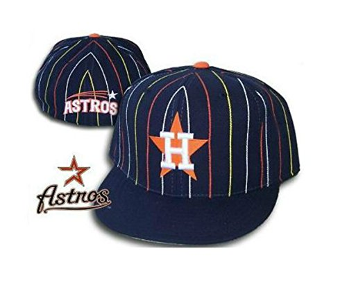 Houston Astros PINWHEEL Fitted Hat Cap Size 7 - Pinwheel Cap Fitted