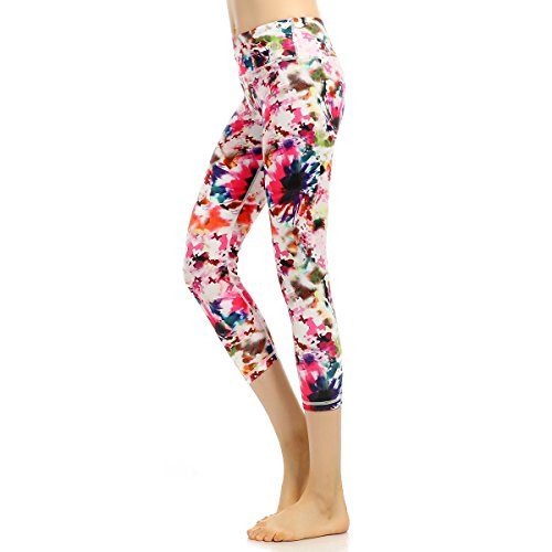 Sannysis Cute Yoga Pants Women Hight Waist Yoga Geometric Print Legging Running Sports Pants Trouser