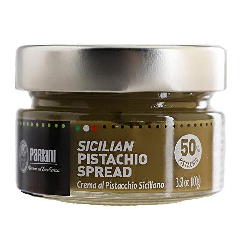 Pariani Sweet Sicilian Pistachio Cream Spread with 52% Pistachio - 100g (3.53oz)