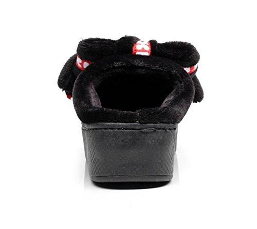 Tacón DANDANJIE Cordones Punta Mocasines Zapatillas sin de de Zapatillas de Chanclas de Damas caseros cuña Corbata Antideslizante con Deporte Gris para Zapatos Cierres Chicas y de Redonda ra8aHR