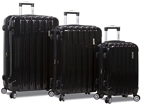 Trendy 3 pcs Luggage Travel Set Spinner Travel Suitcase Set Travel luggage organizer bag Travel luggage set Spinner suitcase set (Black) by Dejuno