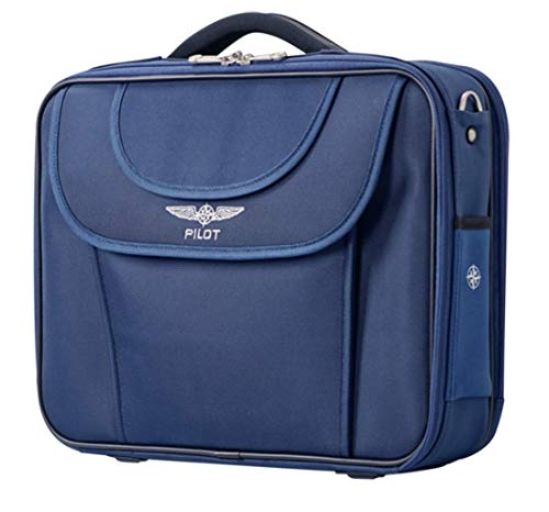 DESIGN 4 PILOTS Pilot Bag Flight Bag Aviation Bag in Blue, Briefcase, Laptop case, Pilot ()