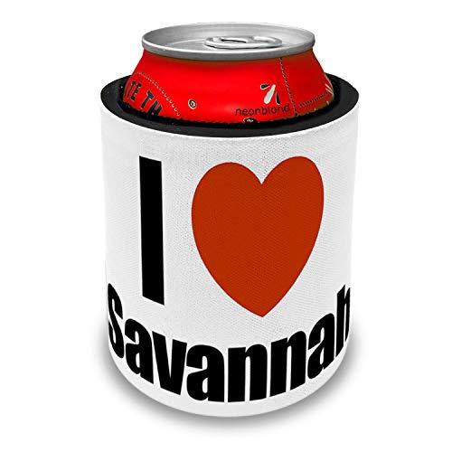 NEONBLOND I Love Savannah region: Georgia, United States Slap Can Cooler Insulator Sleeve (Best Bbq Savannah Georgia)