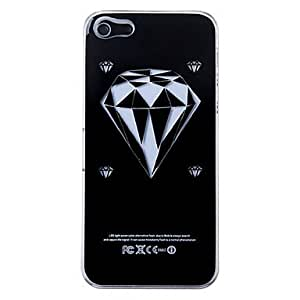 New Sense Diamond Flash Light LED Color Changing Hard Case for iPhone 5 --- COLOR:Black