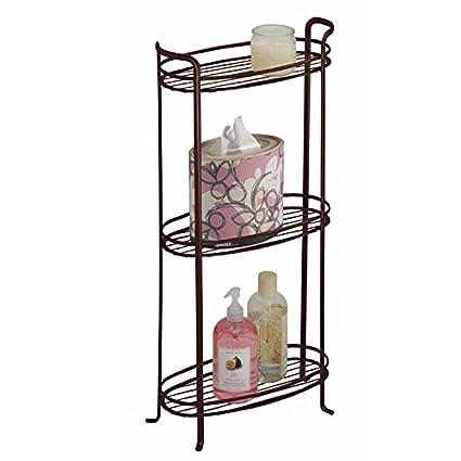 Amazon Mdesign Free Standing Bathroom Storage Shelves For