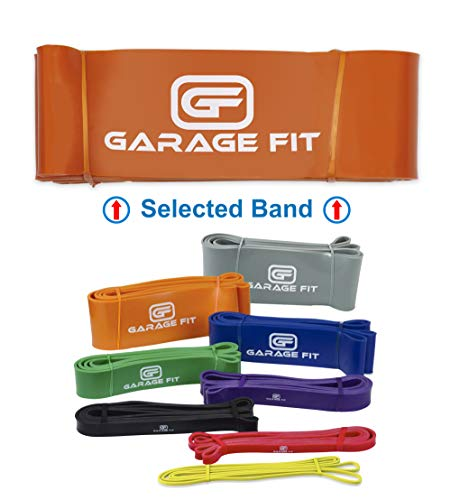 Garage Fit Pull Up Assist Bands, Pull Up Resistance Bands - Resistance Bands for Pull Ups, Chin Ups, Muscle Ups, Powerlifting Bands, Heavy Resistance Bands XXL Orange