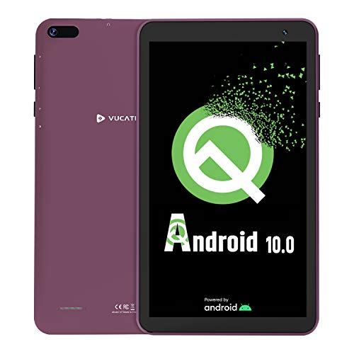 Tablet 7-Inch Android 10.0 - VUCATIMES 16GB ROM IPS HD Display Quad-Core Processor WiFi Bluetooth 4.2 Google Certified, Play Store Pre Installed, N7 (Purple)