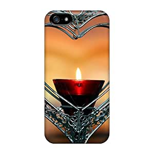 5/5s Scratch-proof Protection Case Cover For Iphone/ Hot Heart Candle Phone Case