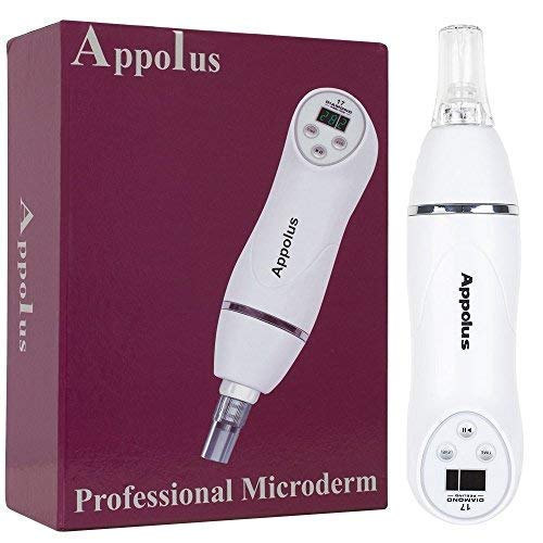 Microdermabrasion Machine - Appolus Diamond Microdermabrasion Kit - Anti-aging Collagen Wrinkles Rejuvenation Therapy - Scarring Stretch Mark Hyperpigmentation care
