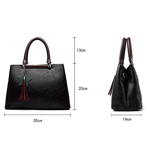Fille Crossbody Cuir à En Main Black à Mode Sac BAILIANG Sac Bandoulière Iadwqp6xnA