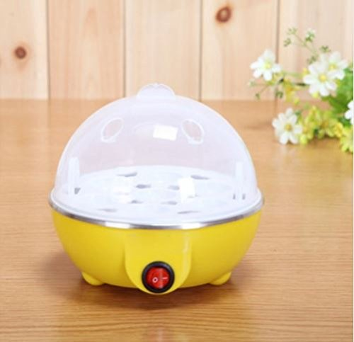 New Generic and Multi-Function Electric Egg Cooker/Boiler by Pearl Fantasia, Boil up to 7 Eggs,Rapid Egg Maker Steamer & Poacher comes with Removable Tray,Cooking Tools Kitchen Utensils (Yellow) ()