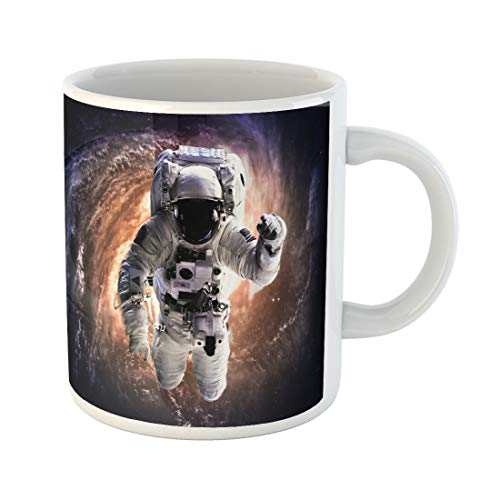 Semtomn Funny Coffee Mug Fiction Astronaut in Outer Space of This Furnished 11 Oz Ceramic Coffee Mugs Tea Cup Best Gift Or Souvenir ()