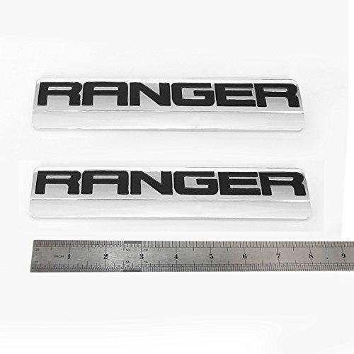 Sanucar 2x OEM Chrome RANGER Badge Emblems 3D logo Fender for F150 F250 2006-2011
