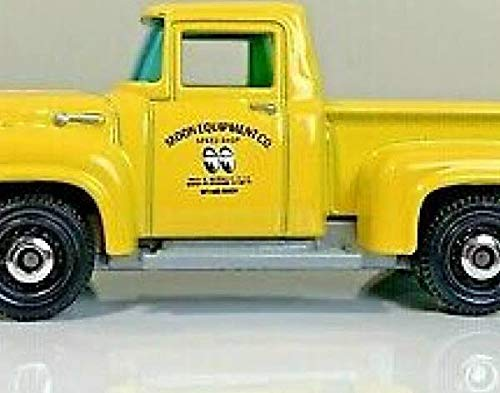 MBX '56 Ford F-100 Pickup Yellow Matchbox Moon Equipment Series 1:64 Scale Die Cast Car