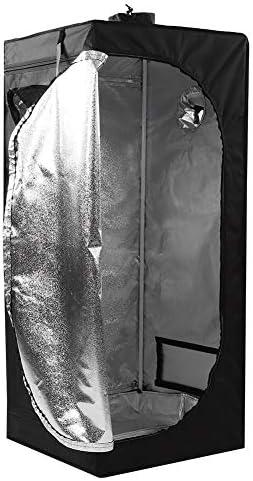 Okuguy ポータブル水耕屋内バドダークルームはオックスフォードガーデニングは、テント#を育て600D 3
