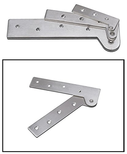 KFZ Upper and Lower Hinges Cupboard/Cabinet Door Hinges 7-Shape Head Concealed Hings 180 Degree Rotating Hinge JD-DJPF12 Hardware Accessories (10,L) by KFZ (Image #4)