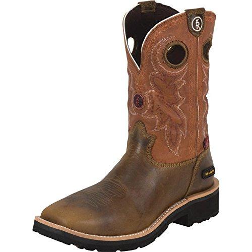 Tony Lama Boots Men's RR3300 Boot,Tan Comanche,11 D US