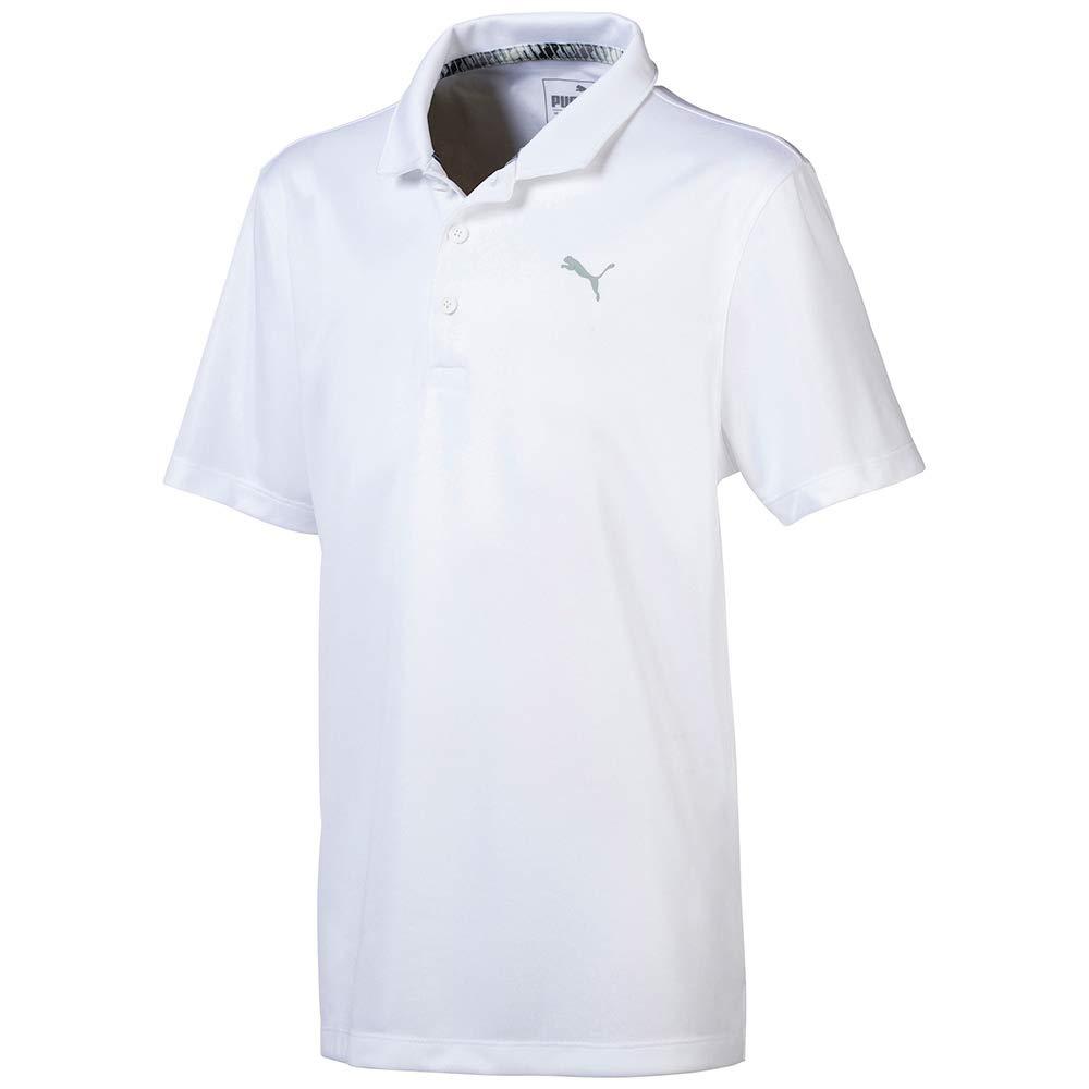 Puma Golf Boys 2019 Polo, Bright White, Small
