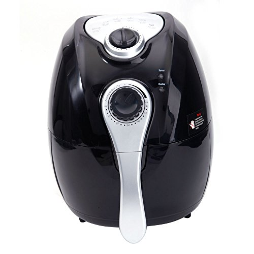 Mefeir Electric Multifunction Air Fryer with Rapid Air Circulation,1500W Oil Less Fryer Healthy Food and Fast Cooking,Programmable Timer and Temperature Control Handle Detachable Basket Black
