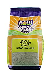 NOW Foods Psyllium Husks Whole, 16 Ounce (Pack of 2)