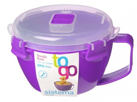 Red 1109ZS 31.7 oz.//0.9 L Sistema Microwave Collection Noodle Bowl
