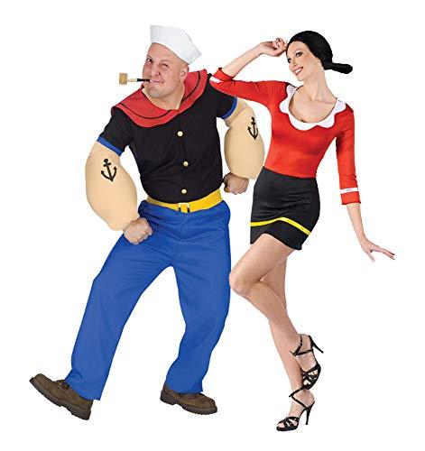 Popeye and Olive OYL Costume Set (Popeye STD/Olive S/M)]()