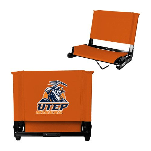 UTEP Stadium Chair Orange 'Primary Athletic Mark' by CollegeFanGear
