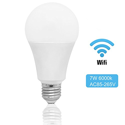 Wifi Smart Light Bulb,7W 650Lumens Smart LED Light Bulb Timmer Dimming Work With Amazon Alexa Google Home,Home Automation Dimmable Night Light Bulb Tuya APP Controlled by HansSmart