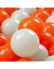 KiddyMoon Plastic Ballen Voor Kinderen Ø 7 Cm Kleurig Gecertificerd Gemakt In EU