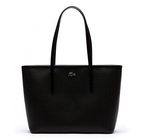 Lacoste Chantaco Shopper Tasche Leder 30 cm Black