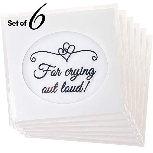 Fun Wedding Handkerchiefs | Set of 6 | Bride Gift for Bridesmaids, Friends and Guests