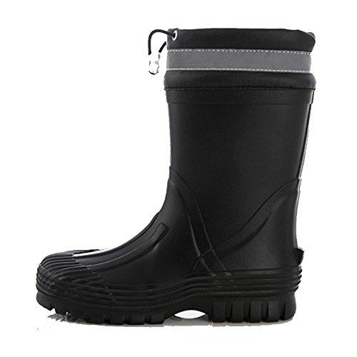 Women's rain boots NAN Rain Boots Fashion Tube Waterproof Non-slip Student Boots Fashion Classic Boots Rubber Shoes (Color : Black, Size : EU35/UK3/CN34) Black
