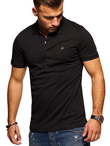 T Courtes Manches Chemise Haut Unicolore amp; shirt Black Shirt Jones Homme Jack Polo 8HTSn