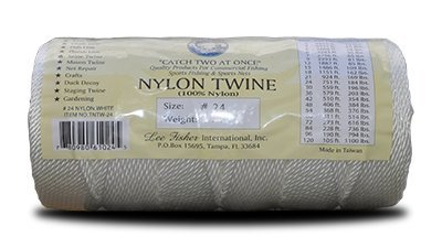 Wholesale (2 Pack) 100% Nylon twisted heavy duty white twine 1 lb spool in various sizes #6, #7, #9, #12, #15, #18, #21, #24, #30, #36, #42, #48, #60, #72, #84, #96, #120, 1 lb white (#07) free shipping