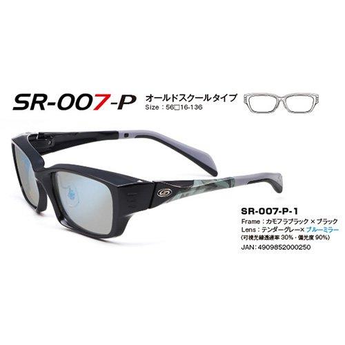 ストームライダー SR-007-P オールドスクールタイプ (偏光サングラス) テンダーグレー:ブルーミラー