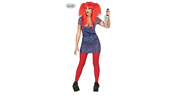 Disfraz de Chuky chica adulta talla L (42-44): Amazon.es: Juguetes y juegos