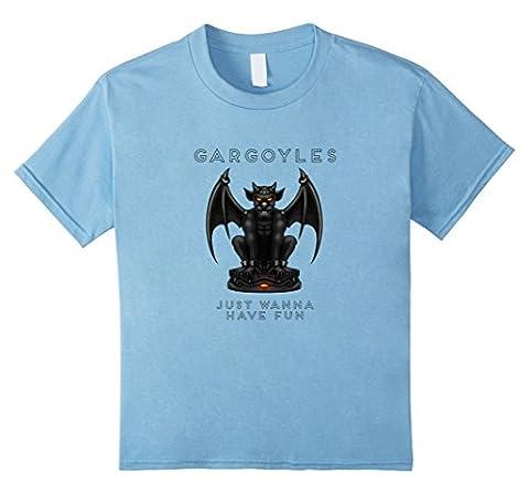 unisex-child Gargoyles Just Wanna Have Fun Funny T-Shirt 12 Baby Blue (Funny Gargoyles)