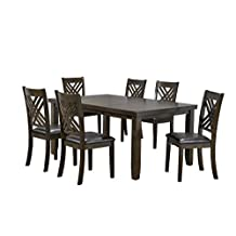 Brassex 1801-64 Elliot 7 Piece Dining Set (Table Plus 6 Chairs)