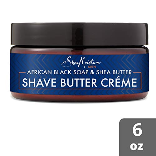 Shea Moisture African Black Soap & Butter Shave Cream for Men, 6 Ounce