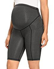 Women's Maternity Over The Belly Active Lounge Comfy Yoga Short Workout Running Athletic Non See-Through Yoga Shorts
