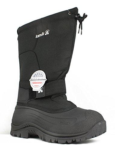 Kamik Waterproof Snow Boots - Kamik Men's Greenbay 4 Cold Weather Boot,Black,12 M