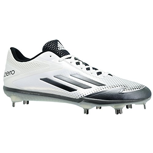 pretty nice 1680f 6e52b adidas Adizero Afterburner 2.0 Mens Baseball Cleat 8 White-Grey Met-Carbon  Met