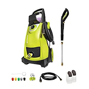 Sun Joe SPX3000 14.5-Amp 2030 PSI Max 1.76 GPM Max Electric High-Pressure Washer w/ 5 Quick-Connect Tips, Detergent…