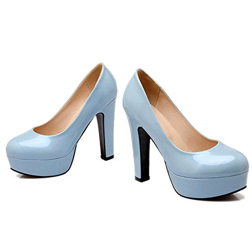 with Shoes SJJH with Women High Court Blue and Platform Large Macth Heel Shoes Thick All 7wSpw5q